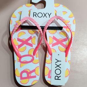 Roxy Flip Flops Lemon Pink